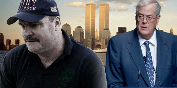 The Unlikely Relationship Between 9/11 firefighter and billionaire David Koch