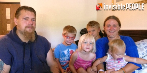Invisible People: Homeless Family with 6 Children