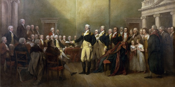 Washington Resigns His Commission, and Stuns the World